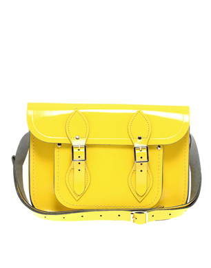 "11"" Patent Yellow Satchel"