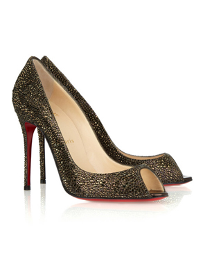 Sexy Strass 100 Swarovski Crystal Peep-Toe Pumps