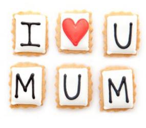 Biscuiteers I heart Mum biscuits