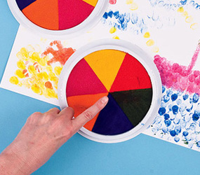 Finger painting pads