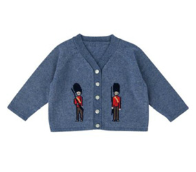LITTLE BOY'S CARDIGANS Cath Kidson Guards Baby Cardigan