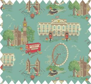 London Scene Cotton Duck fabric