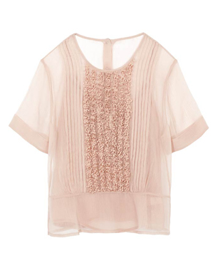 Dusty Rose Sheer Top