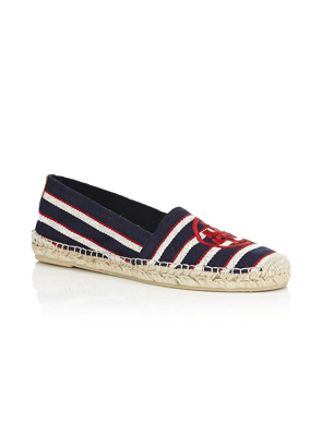 Tory Burch Stripe Canvas Espadrille