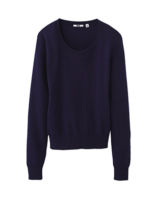 Wide Rib Crew Neck Sweater