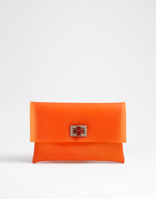 Orange Valerie Clutch