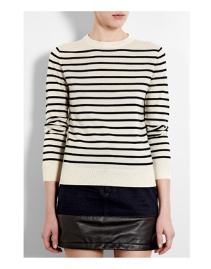 Ecru Ultimate Marine Stripe Jumper