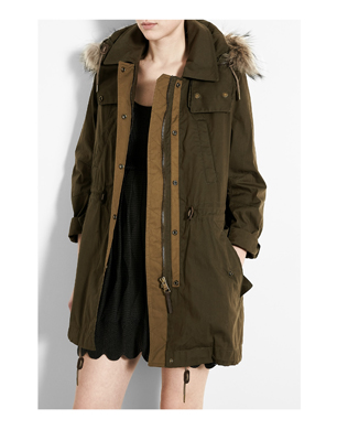 Olive Green Parka Coat