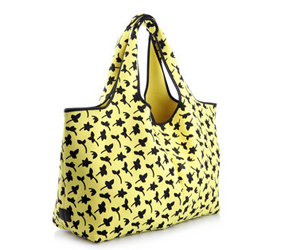 DVF yellow beach tote