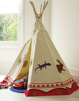 Traditional Canvas Wigwam Play Tent