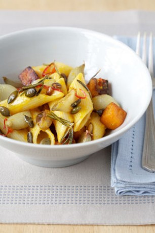 Roast-Shallots-with-Pennoni-Regati,-Chargrilled-Butternut-Squash-and-Pumpkin-Seeds