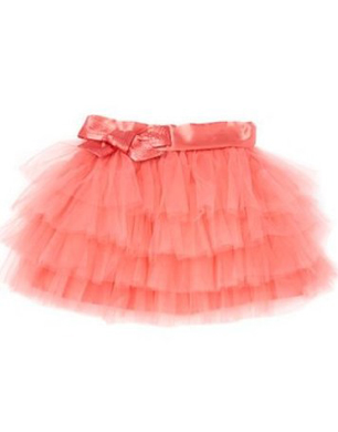 Star by Julien Macdonald Dark peach tiered tutu skirt
