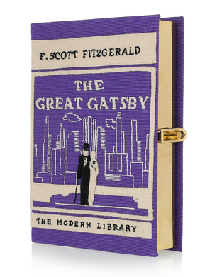 The Great Gatsby embroidered clutch