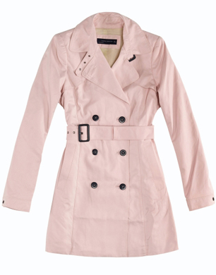 Pink Mac Coat | Down Coat