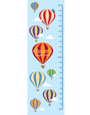 Personalised Balloon Heigh Chart