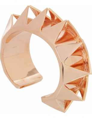 Eddie Borgo Smile Rose Gold-plated Cutout Pyramid Cuff