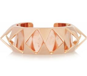 Pink gold stud bangle by Borgo