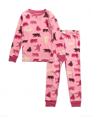 Girls Pink Cotton Bears Pyjamas