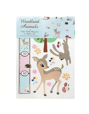Woodland Animals Height Chart