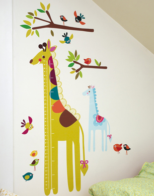 Giraffe Giant Height Chart Stickers
