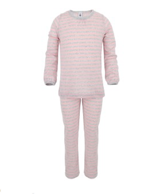 Pink and Grey Stripe Pyjama Set