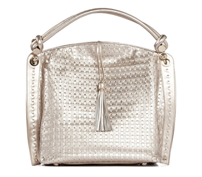 Reiss Metallic Vida Weave Bag