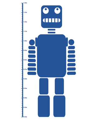 Robot Height Chart Sticker