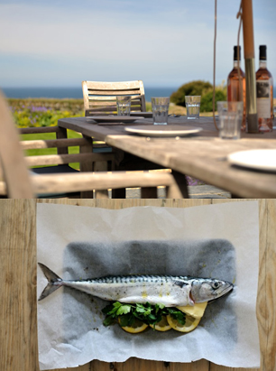 Fentafriddle outside table and image of fish