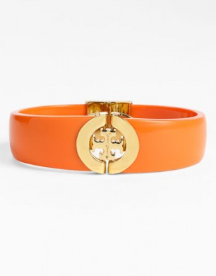 Tory Burch Hinged Logo Bangle