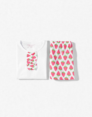 Strawberry Print Pyjamas