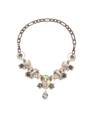 Spike and Stone Collar Necklace