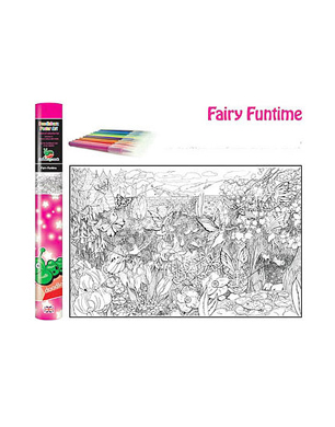 Giant Fairy Colouring Poster Kit