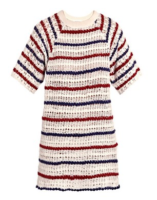 Isabel Marant Etoile Cobe Stripe Crochet Dress