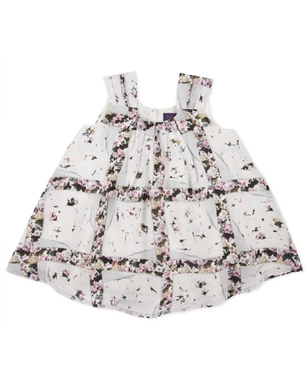 Baby Girls Torn Floral Print Dress