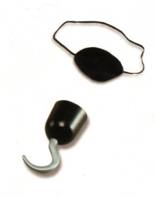 Pirate Hook, Earring and Eye Patch