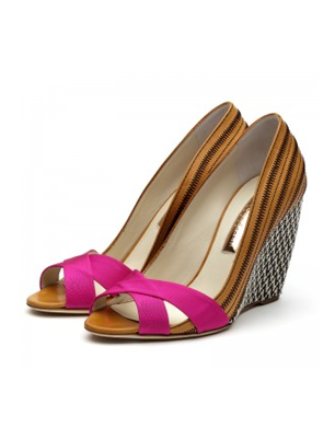 Kibo High Wedge Peep Toe