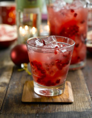 POMEGRANATE, BISON GRASS VODKA & APPLE JUICE COCKTAIL