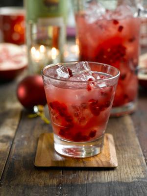 Pomegranate Bison Grass Vodka Amp Apple Juice Cocktail