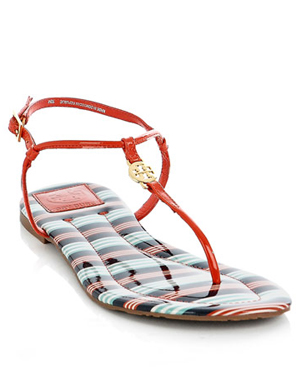 Emmy Patent T Bar Sandals