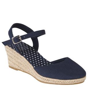 8aac8818804 Espadrille Closed Toe Wedge Sandal