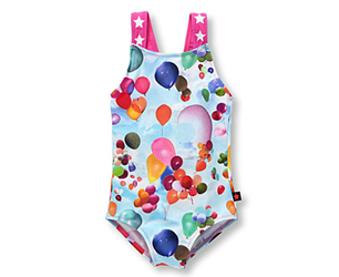 Girls Swimming Costumes Nakia Balloon Print Swimsuit