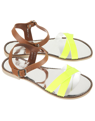 Fluro Metallic Sandals