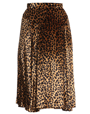 Marc by Marc Jacobs Leopard Print Velvet Skirt