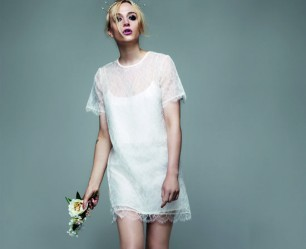 Richard Nicoll for Topshop Collection model in white dress
