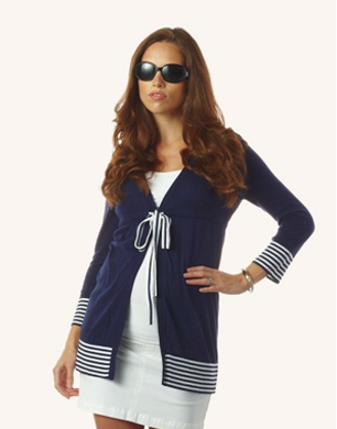 Nautical Belted Cardigan
