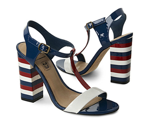 Summer Sandals in red white and blue stripes