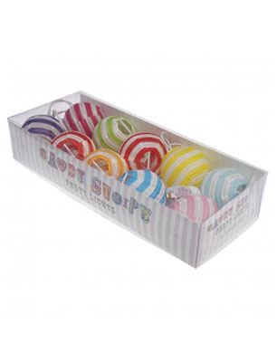 Set 10 Candy Stripe Party Lights