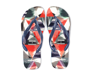 Missoni Havaianas Blue and Red