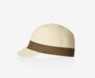 Zara Straw Visor Girls Sun Hats