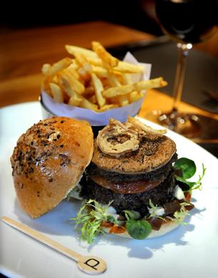 Burger at Bar Boulud London